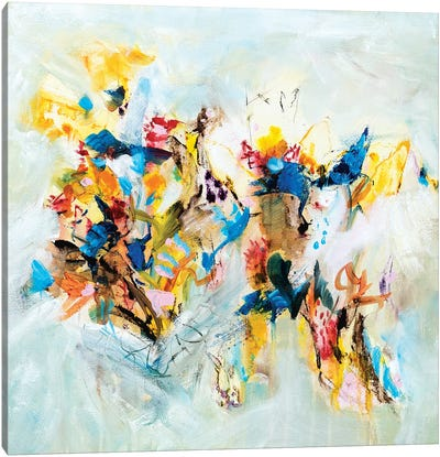 Colorburst Through White Canvas Art Print