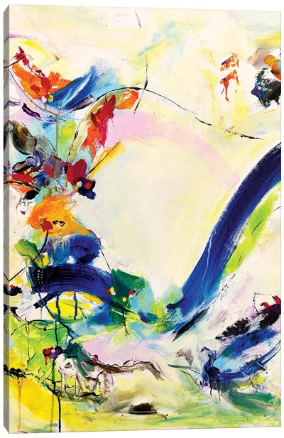 Dark Blue Waterfall Canvas Art Print