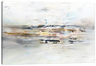 Fruitful Plains Through The Fog Canvas Art Print