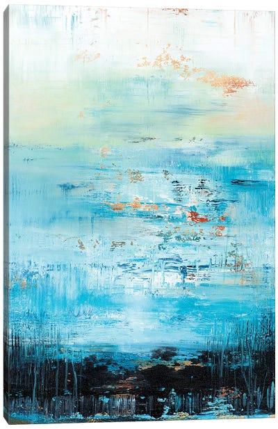 Golden Cloud Reflection Canvas Art Print