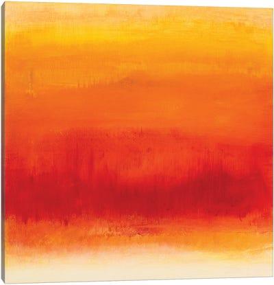 Golden Fire Sunset Canvas Art Print