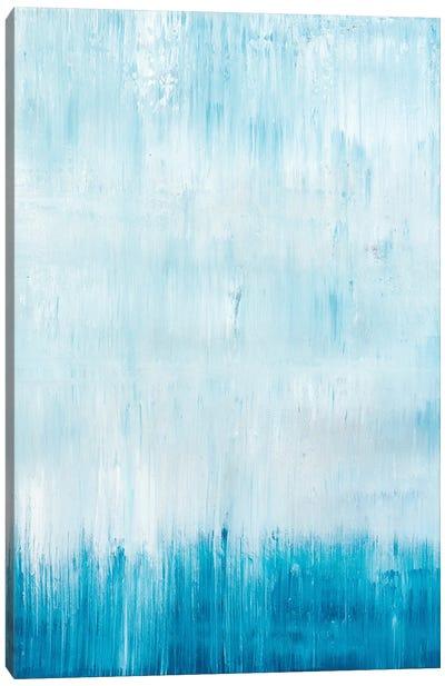 Gradient Blue Rainfall Canvas Art Print