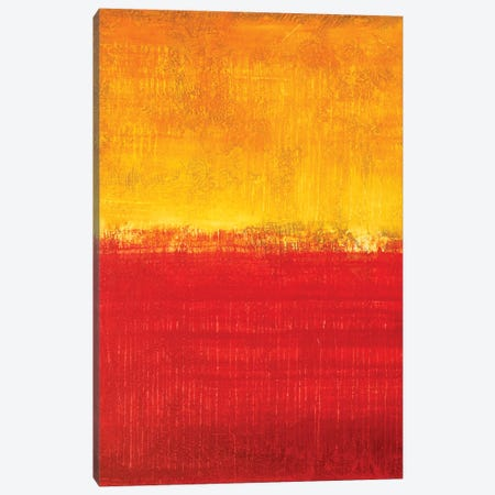 Honey Yellow And Red Sunset Canvas Print #RDK34} by Radek Smach Art Print
