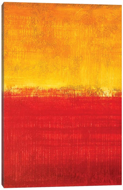 Honey Yellow And Red Sunset Canvas Art Print