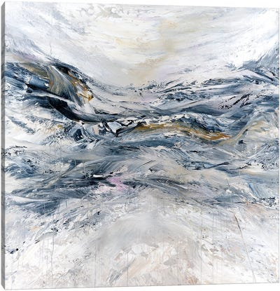 Ice Blue Mountain Canvas Art Print