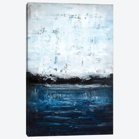 Midnight Blue Lakeside Canvas Print #RDK42} by Radek Smach Canvas Art Print