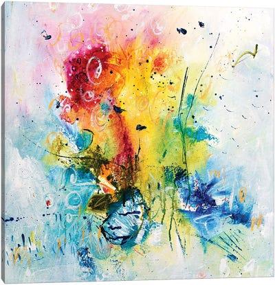 Rainbow Fire Canvas Art Print