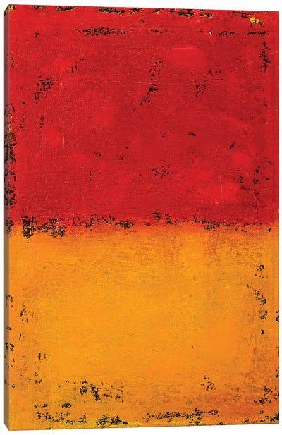 Red Meets Orange Canvas Art Print