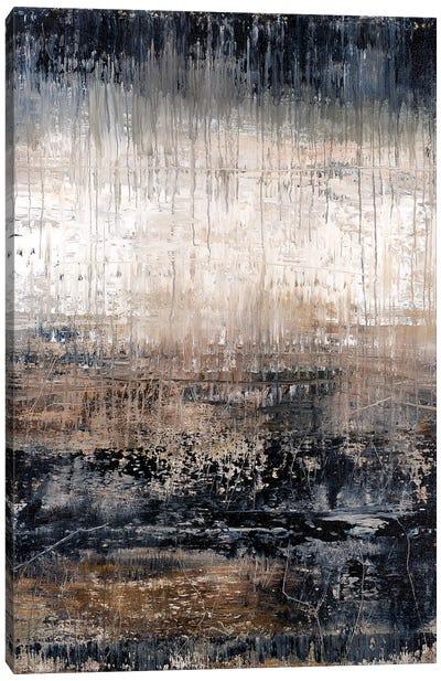 Black Drip Granite Canvas Art Print