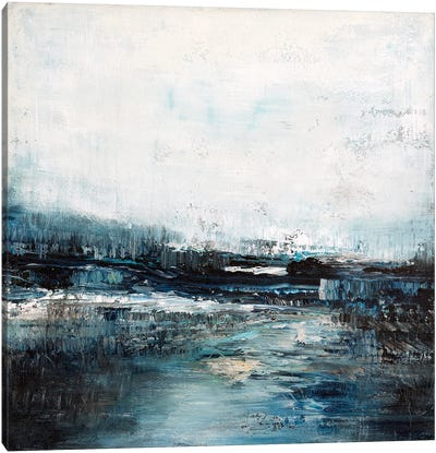 Soft Blue Riverbed Canvas Art Print