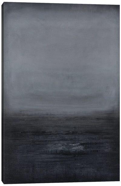 Black/Charcoal Gradient Canvas Art Print