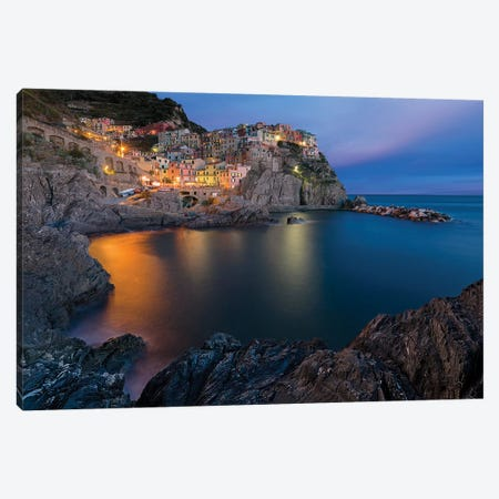Manarola Lifestyle Canvas Print #RDO9} by Renee Doyle Canvas Art
