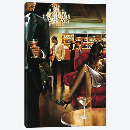 The Lounge Canvas Print #RDS100} by Ron Di Scenza Canvas Art Print
