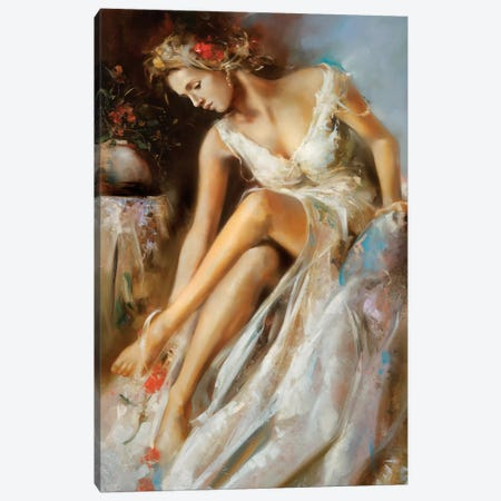 Woman Primavera Canvas Print #RDS115} by Ron Di Scenza Canvas Print