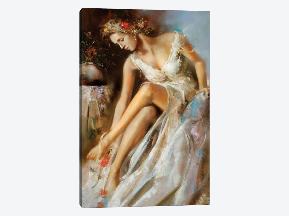 Woman Primavera by Ron Di Scenza 1-piece Canvas Print
