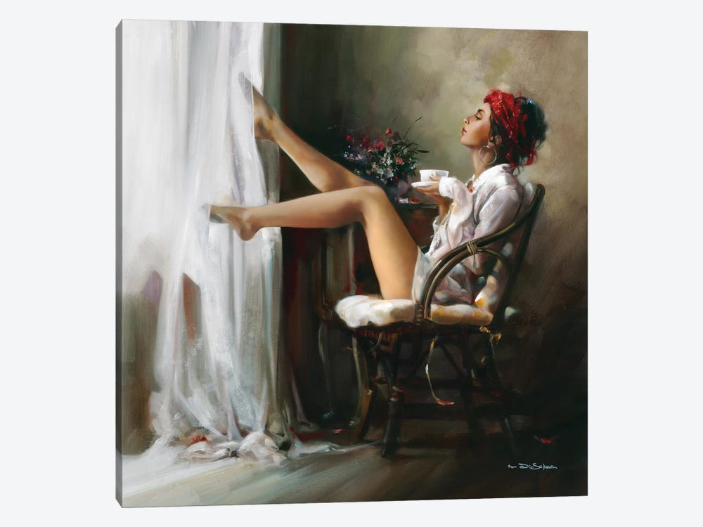 Coffee Break by Ron Di Scenza 1-piece Canvas Artwork