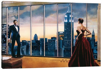 Evening Romance Canvas Art Print