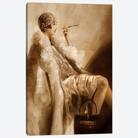 Flapper Canvas Print #RDS37} by Ron Di Scenza Canvas Print