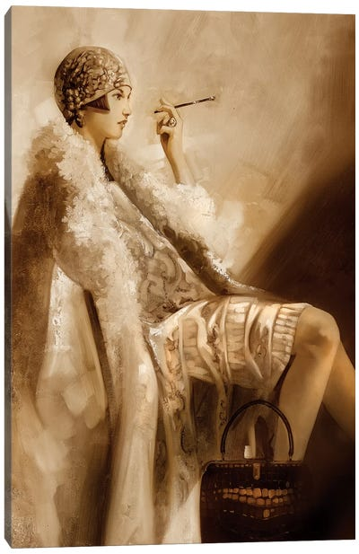 Flapper Canvas Art Print