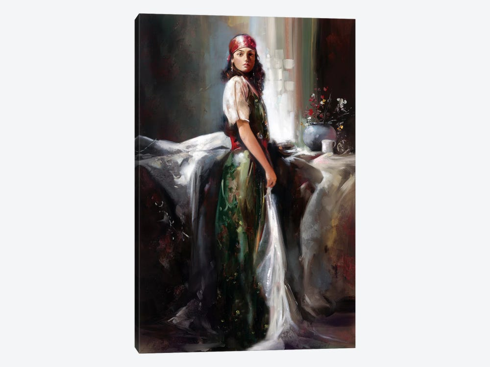 Girl By The Window by Ron Di Scenza 1-piece Art Print