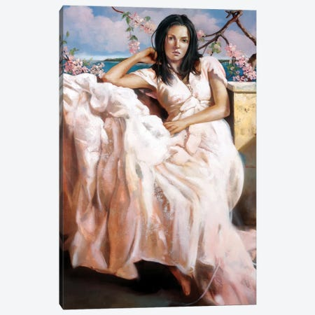 Girl Of Napoli Canvas Print #RDS39} by Ron Di Scenza Canvas Artwork
