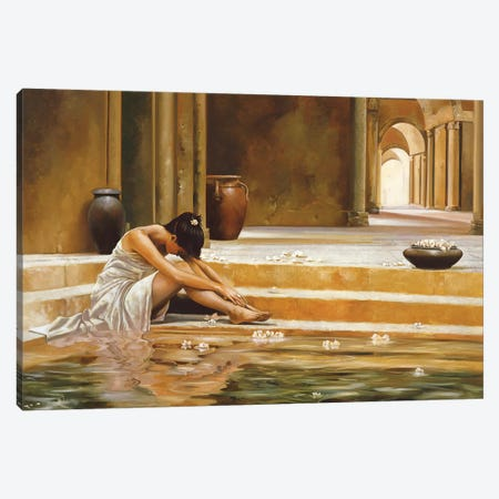 Healing Water Canvas Print #RDS41} by Ron Di Scenza Art Print