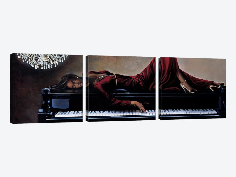 Into The Rhythm by Ron Di Scenza 3-piece Canvas Wall Art
