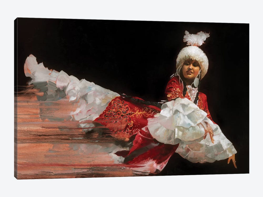 Kazak Dancer by Ron Di Scenza 1-piece Canvas Art Print