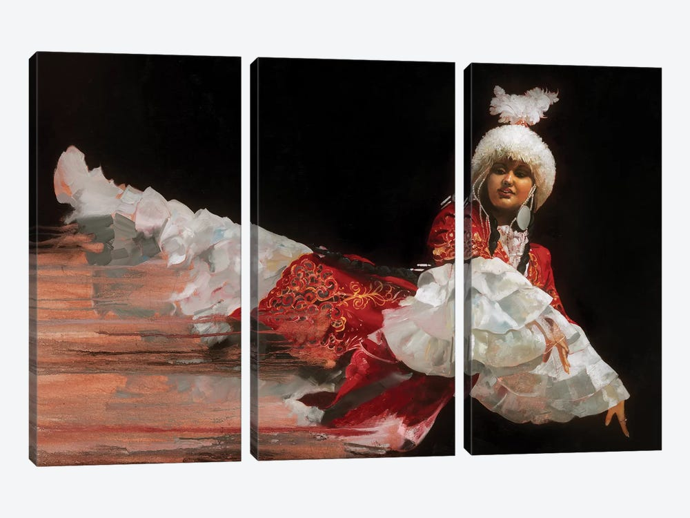 Kazak Dancer by Ron Di Scenza 3-piece Canvas Art Print