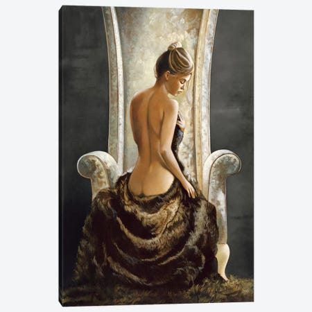 Lovely Lady Canvas Print #RDS49} by Ron Di Scenza Canvas Art Print