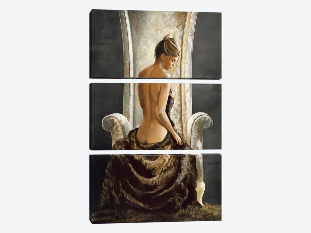 Lovely Lady by Ron Di Scenza 3-piece Canvas Art Print