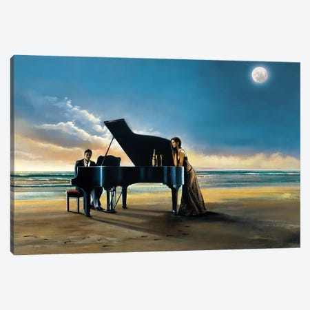 Moonlight Serenade Canvas Print #RDS53} by Ron Di Scenza Canvas Art