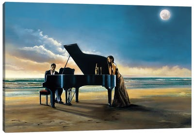 Moonlight Serenade Canvas Art Print