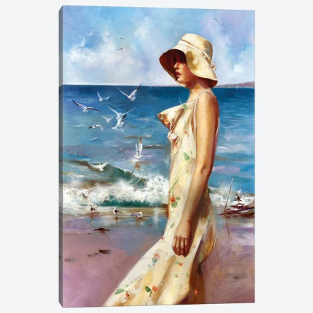 On The Beach Canvas Print #RDS61} by Ron Di Scenza Canvas Print