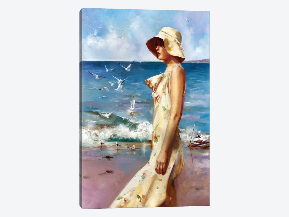 On The Beach by Ron Di Scenza 1-piece Canvas Art Print