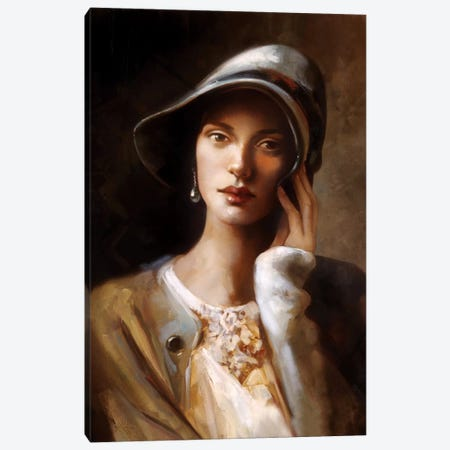 Pearl Earing Canvas Print #RDS67} by Ron Di Scenza Canvas Art