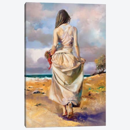 At The Beach Canvas Print #RDS6} by Ron Di Scenza Canvas Artwork