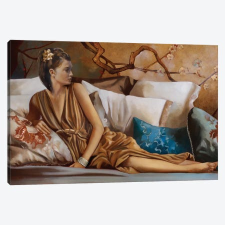 Posh Afternoon Tea Canvas Print #RDS70} by Ron Di Scenza Canvas Art