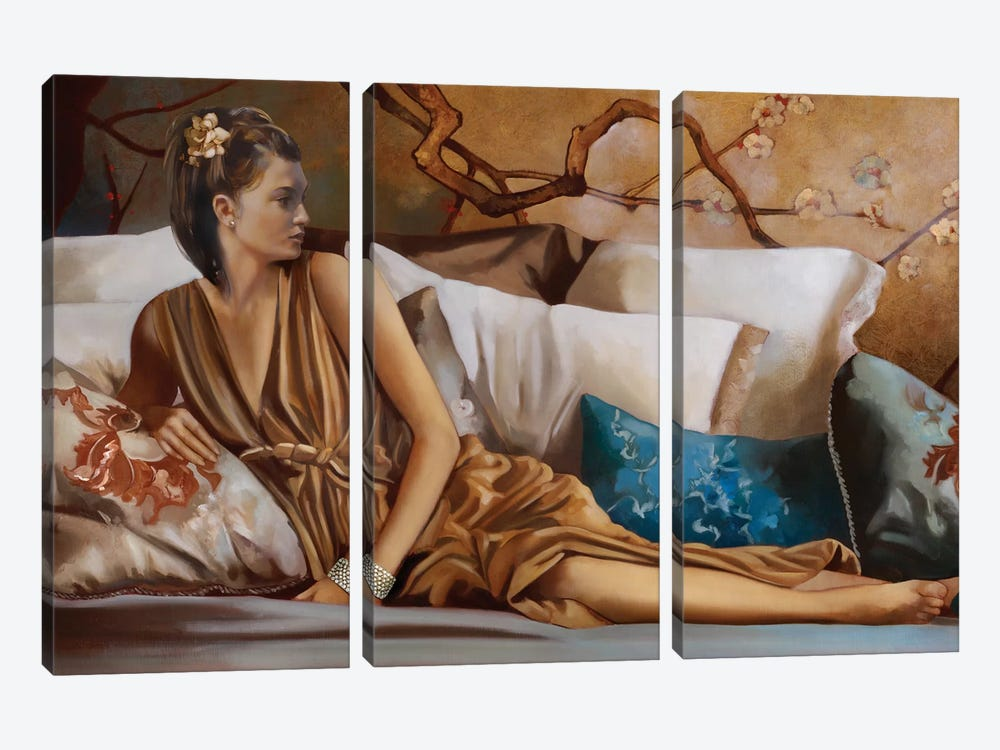 Posh Afternoon Tea by Ron Di Scenza 3-piece Canvas Print