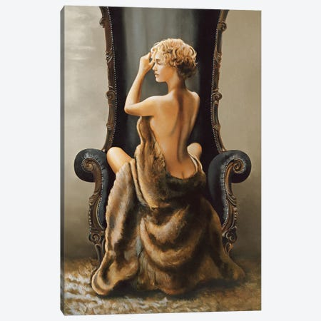 Seated Beauty Canvas Print #RDS84} by Ron Di Scenza Canvas Art