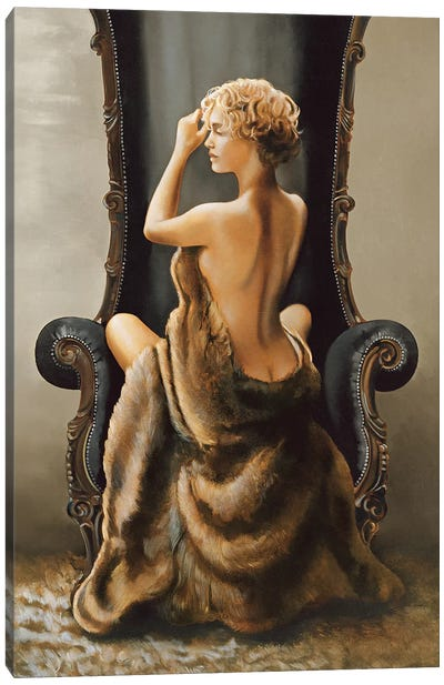 Seated Beauty Canvas Art Print
