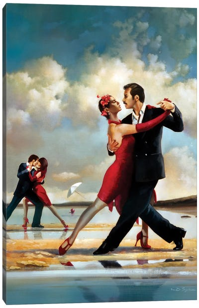 Tango On The Beach Canvas Art Print