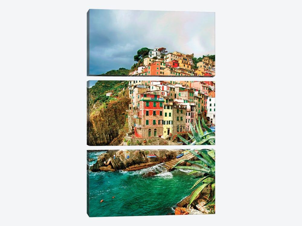 Coastal Town Of Riomaggiore (One Of the Cinque Terre), La Spezia Province, Liguria Region, Italy by Richard Duval 3-piece Canvas Art Print