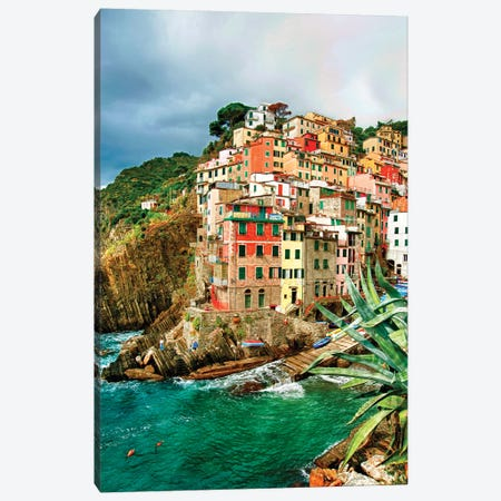 Coastal Town Of Riomaggiore (One Of the Cinque Terre), La Spezia Province, Liguria Region, Italy Canvas Print #RDU4} by Richard Duval Canvas Art