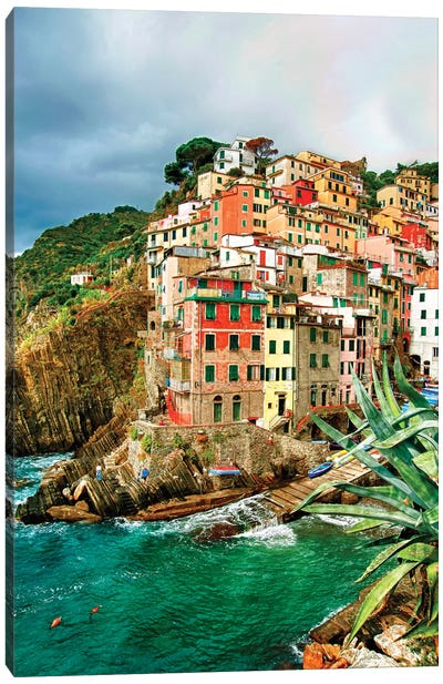 Coastal Town Of Riomaggiore (One Of the Cinque Terre), La Spezia Province, Liguria Region, Italy Canvas Art Print