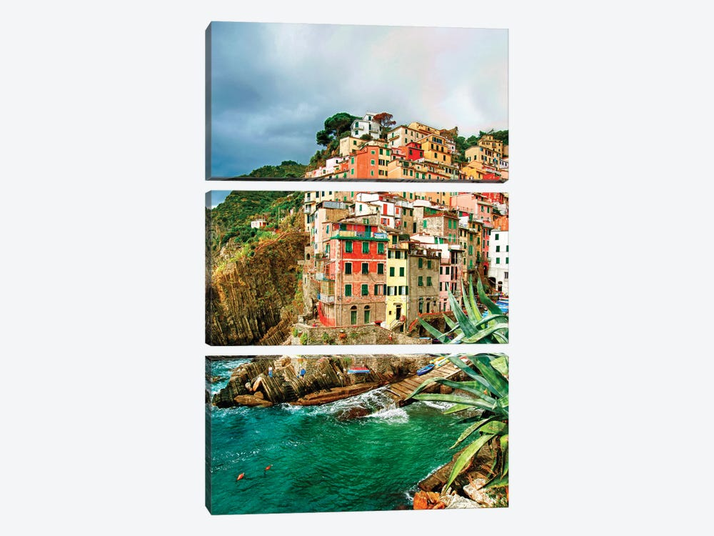Coastal Town Of Riomaggiore (One Of the Cinque Terre), La Spezia Province, Liguria Region, Italy by Richard Duval 3-piece Canvas Art Print