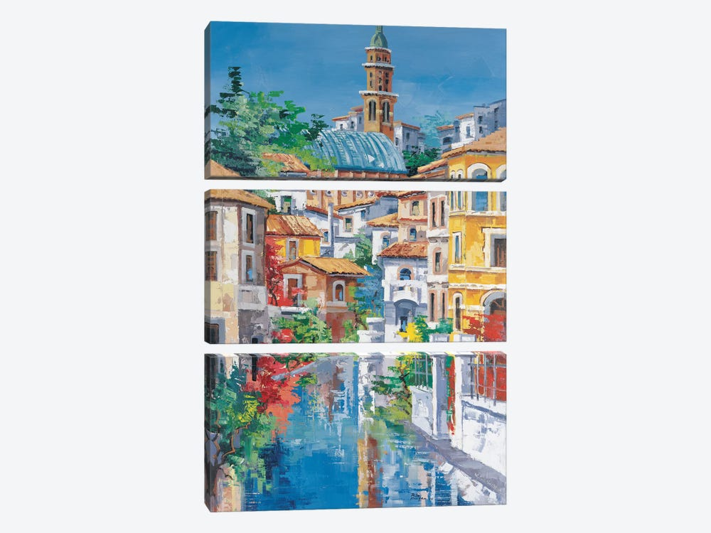 Riflessi Sul Fiume by Roberto di Viccaro 3-piece Canvas Artwork