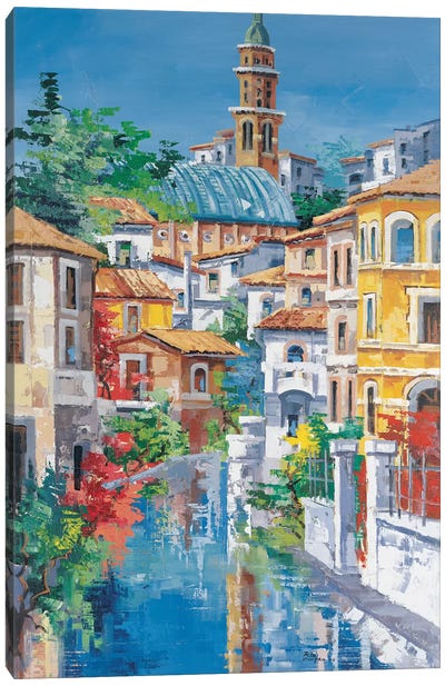 Riflessi Sul Fiume Canvas Art Print