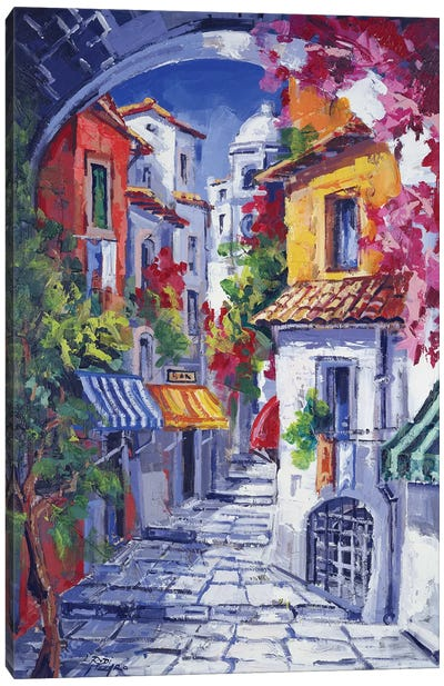 Vicolo Caratteristico Canvas Art Print