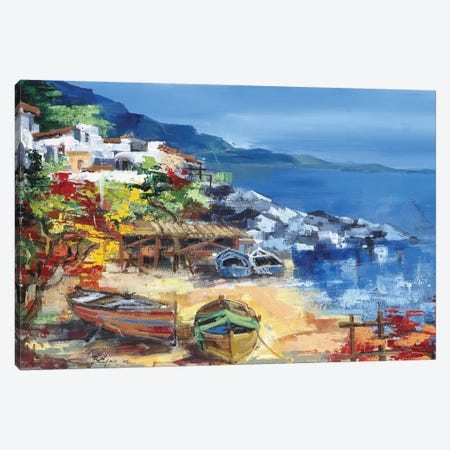 Barche A Riva Canvas Print #RDV1} by Roberto di Viccaro Canvas Artwork